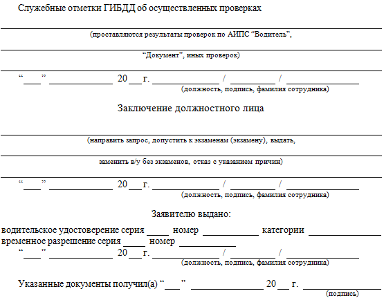заявление на получение ву впервые (об)