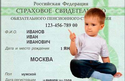 Какие документы нужны для снил ребенку